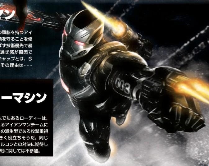Captain America: Civil War japonés Máquina de Guerra