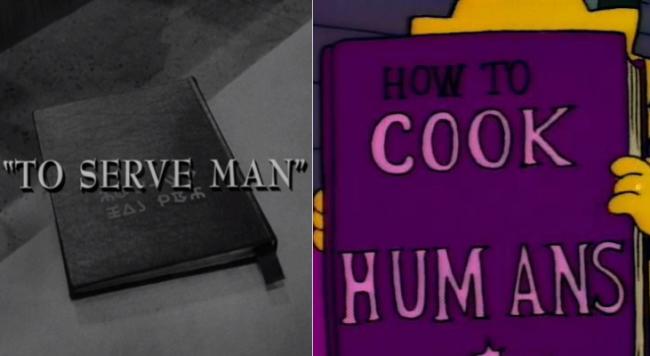 La casa árbol del terror I To serve Man Los Simpson