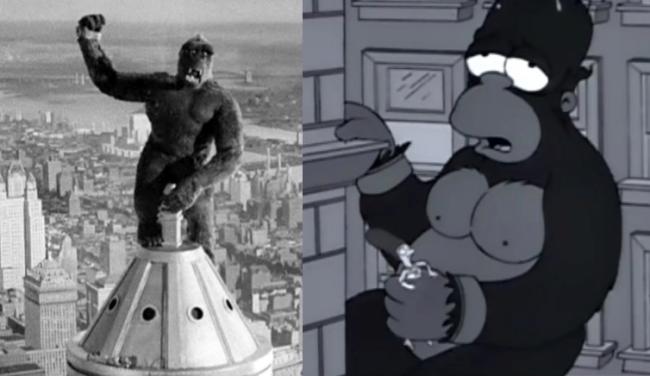 La casa árbol del terror III King Kong Los Simpson