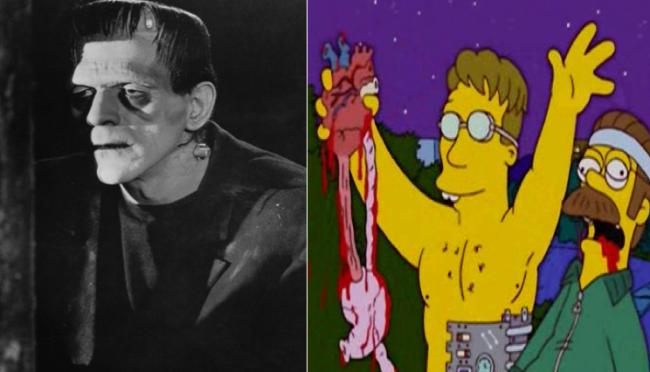 La casa árbol del terror XIV Frankenstein Los Simpson