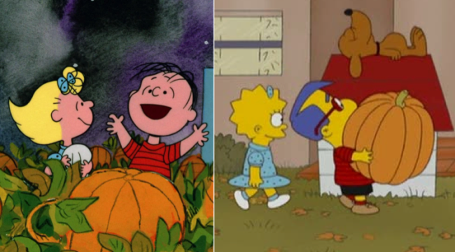 La casa árbol del terror XIX t's the great pumpkin charlie brown Los Simpson