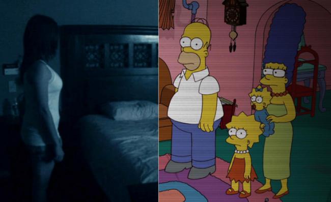 La casa árbol del terror XXIII Paranormal activity Los Simpson