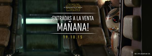 Star Wars El despertar de la Fuerza - Entradas a la venta mañana 00