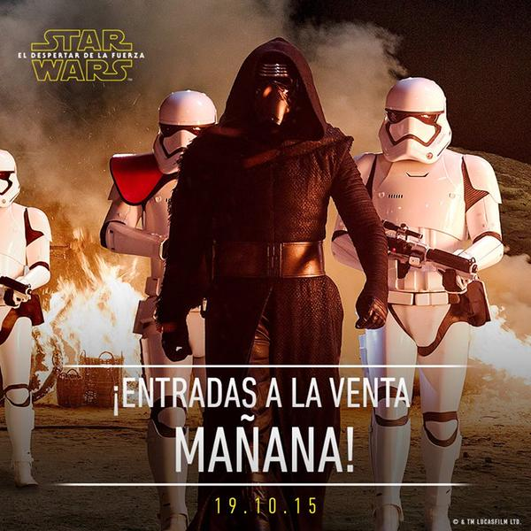 Star Wars El despertar de la Fuerza - Entradas a la venta mañana 02