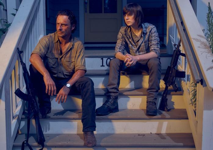 The Walking Dead Rick Grimes y Carl Grimes
