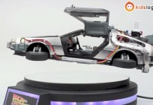 Replica DeLorean volador