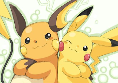 raichu y pikachu