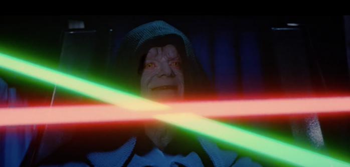 Luke Skywalker sucumbe al lado oscuro