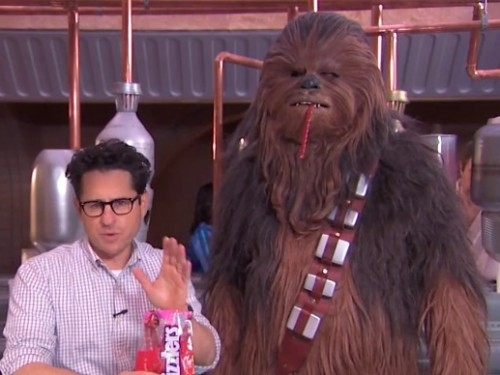 Abrams and Chewbacca twizzler challenge