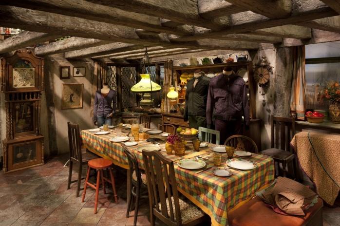 Cocina de los Weasley. Imagen por cortesía de Warner Bros Studio Tour London
