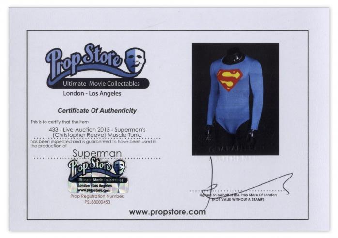 Diploma CR traje Superman