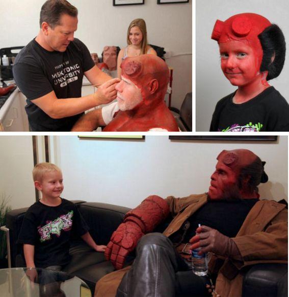 Hellboy at hospital