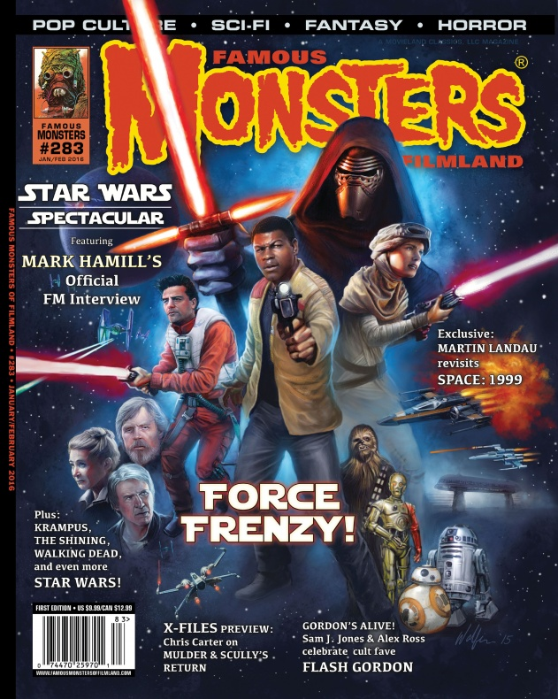 Portada Star Wars revista Famous Monsters