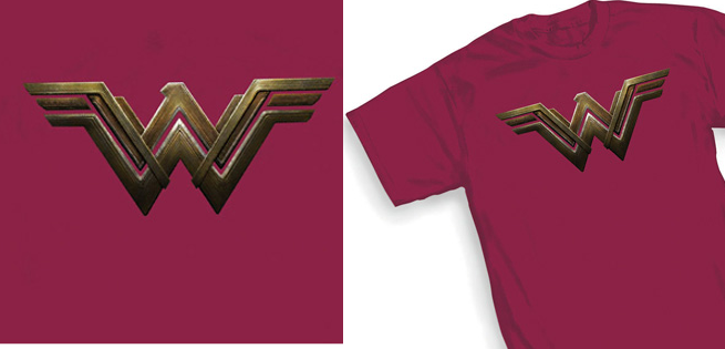 Wonder Woman logo camiseta