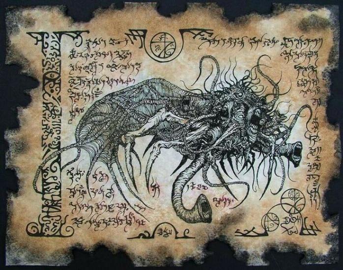 Ilustración de un Soggoth