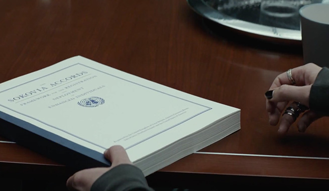 Captain America: Civil War Acuerdo de Sokovia 01
