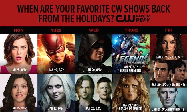 Calendario The CW