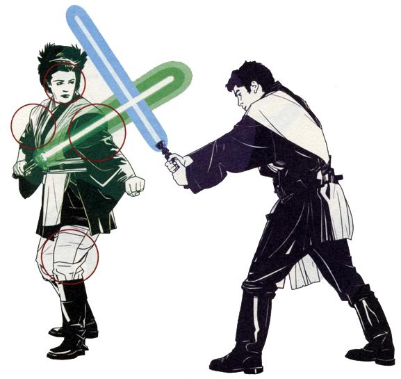 Estilos de lucha sable de luz 11 Shii-Cho