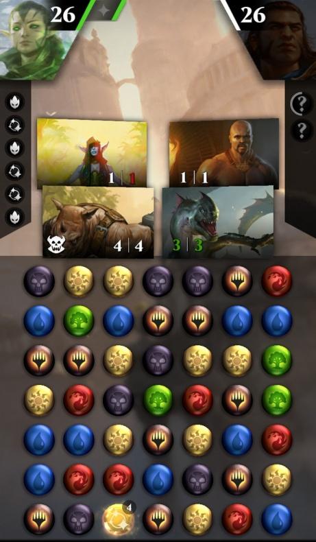 Magic The Gathering - Puzzle Quest Pantalla de juego