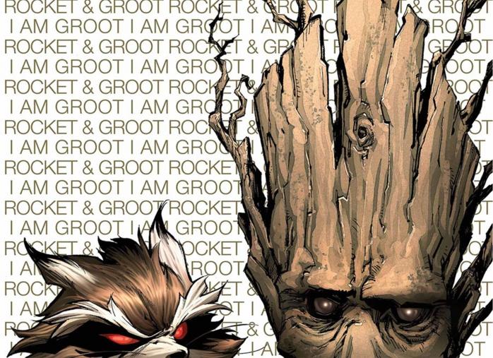 Rocket Raccoon and Groot Destacada