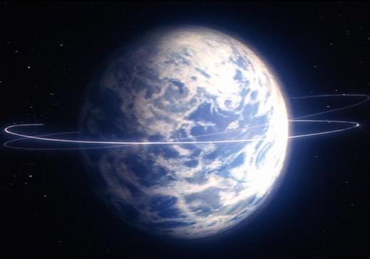 Superman dando vueltas a la Tierra