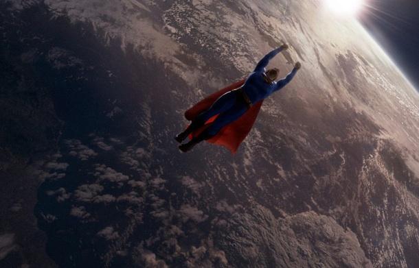 Superman sobre la Tierra