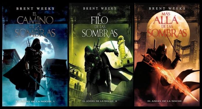 Portadas trilogía 'El Ángel de la Noche'