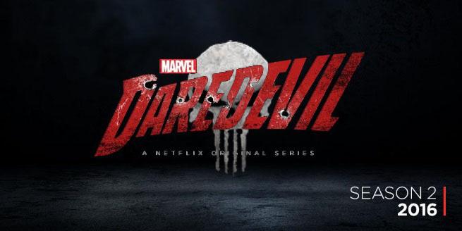Daredevil - logo temporada 2 con Punisher por The Daniel Wolf
