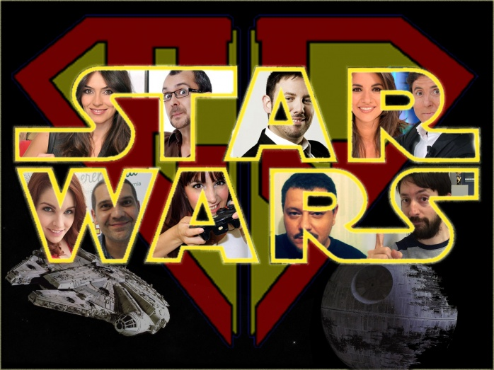 star wars - logo con famosos