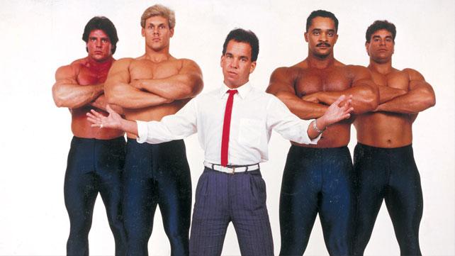 A la izquierda, Último Guerrero y Sting en sus comienzos