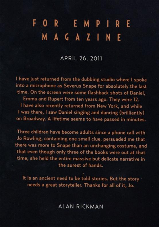 Carta Alan Rickman