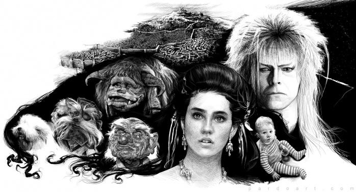 Ilustración de los personajes de 'Dentro del Laberinto' realizada por Alfonso Pardo Martínez