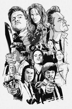 Dibujo Tarantino películas