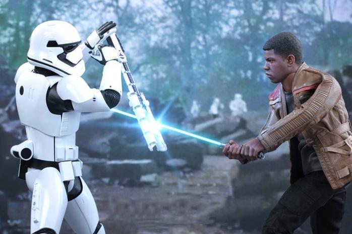 Finn and stormtrooper