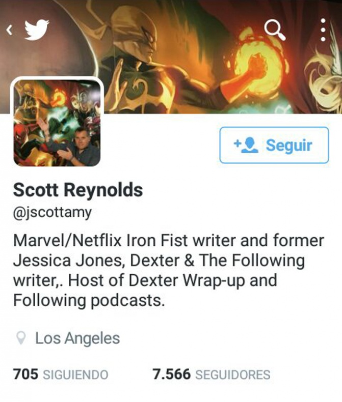 Iron Fist guionista twitter