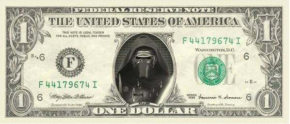 Kylo Ren 1 dollar