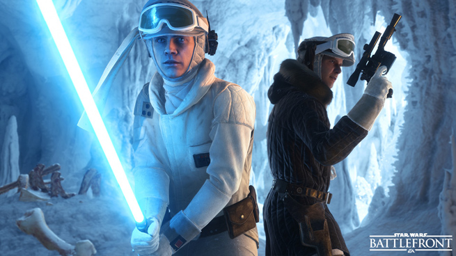 Luke y Han Hoth Battlefront
