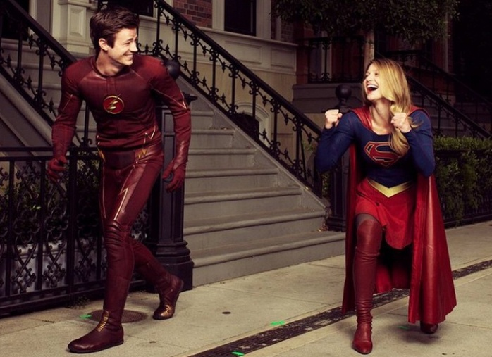 The Flash y Supergirl crossover