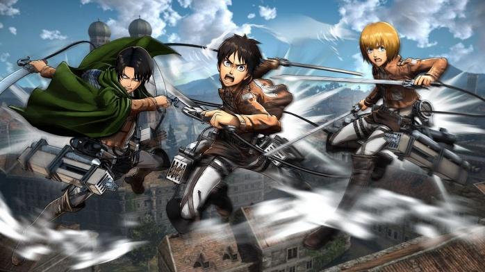 ataque a los titanes videojuego personajes