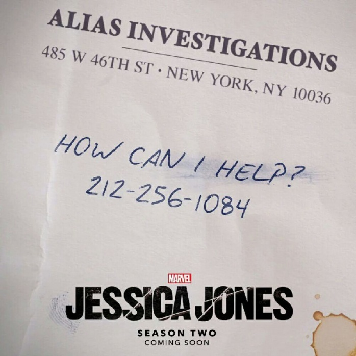 Jessica Jones - tarjeta de visita - temporada 2