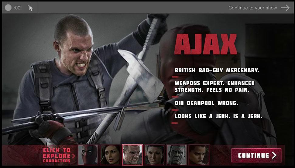 Deadpool biografía de personajes Ajax