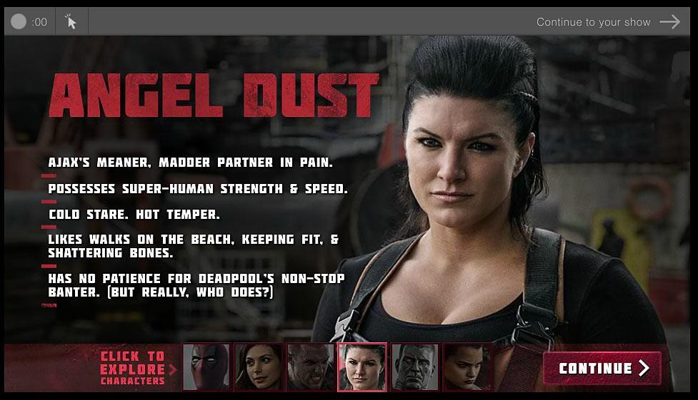 Deadpool biografía de personajes Angel Dust