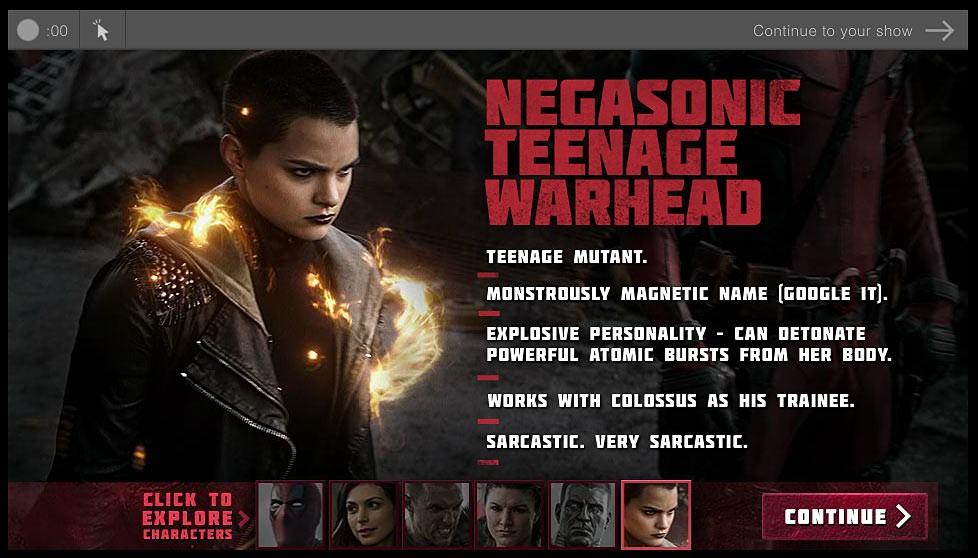 Deadpool biografía de personajes Bomba atómica