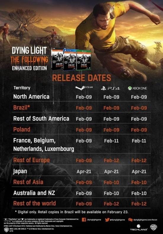 Dying Light fechas lanzamiento