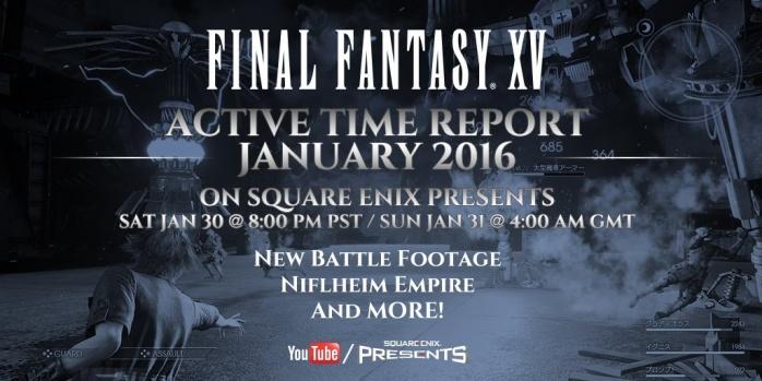 Final Fantasy XV active time report enero