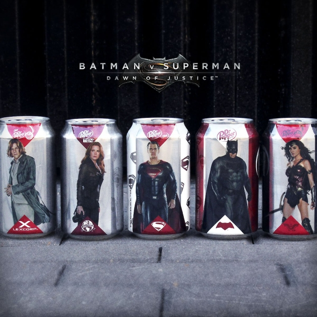 Marvel y DC latas limitadas Batman V Superman 01