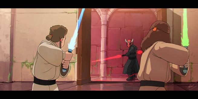 Star Wars como si fuera de Ghibli