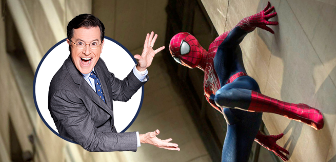 Stephen Colbert Spiderman