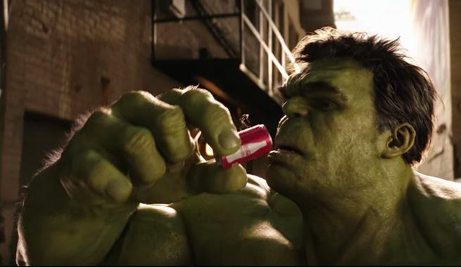 hulk ant man coca cola spot super bowl