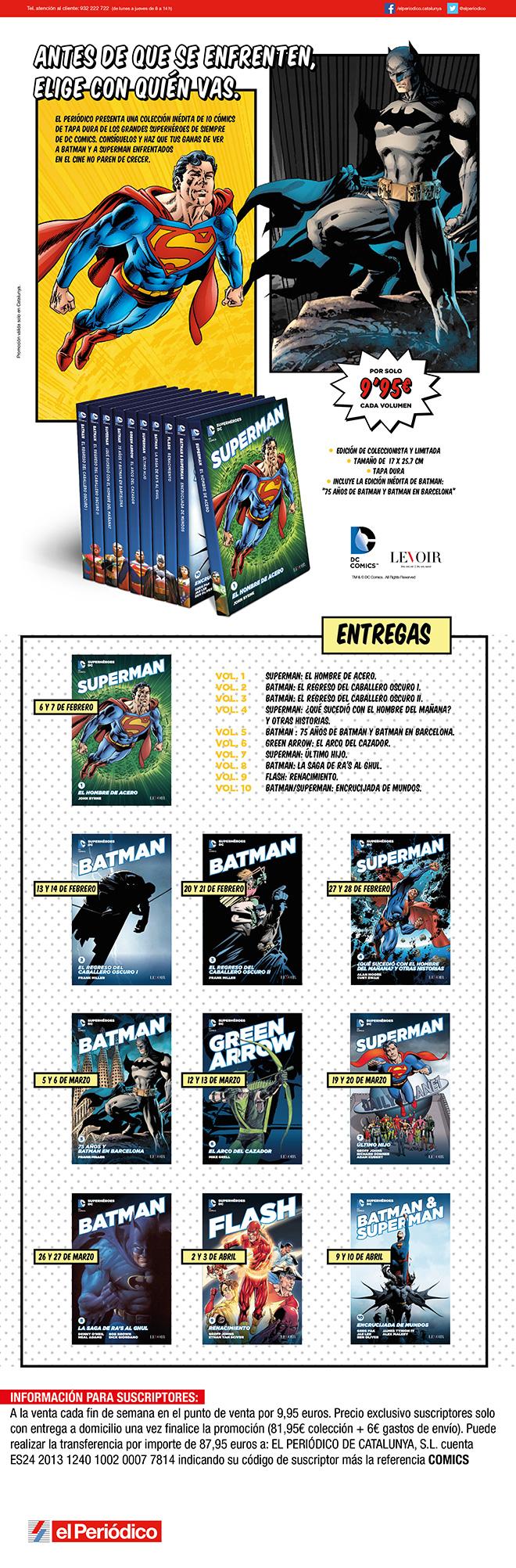 'El Periódico' lanza una colección de tomos de DC Comics